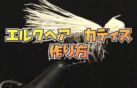 【フライ】初心者でも簡単にできるエルクヘア・カディス毛鉤の作り方を紹介します。