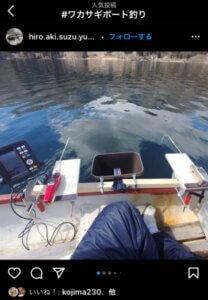 ボート釣りワカサギ