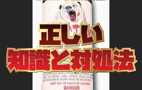 【クマ対策】正しい知識と対処法。猟師おすすめの熊除けグッズ6選を紹介します。