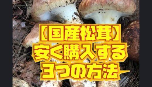 【松茸農家直伝】国産松茸を安く買える3つのコツとおすすめの購入方法を紹介。