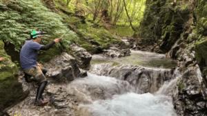 源流域の釣り
